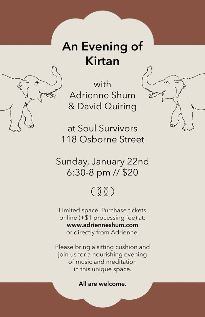 Kirtan at Soul Survivors, Jan 22, 2017