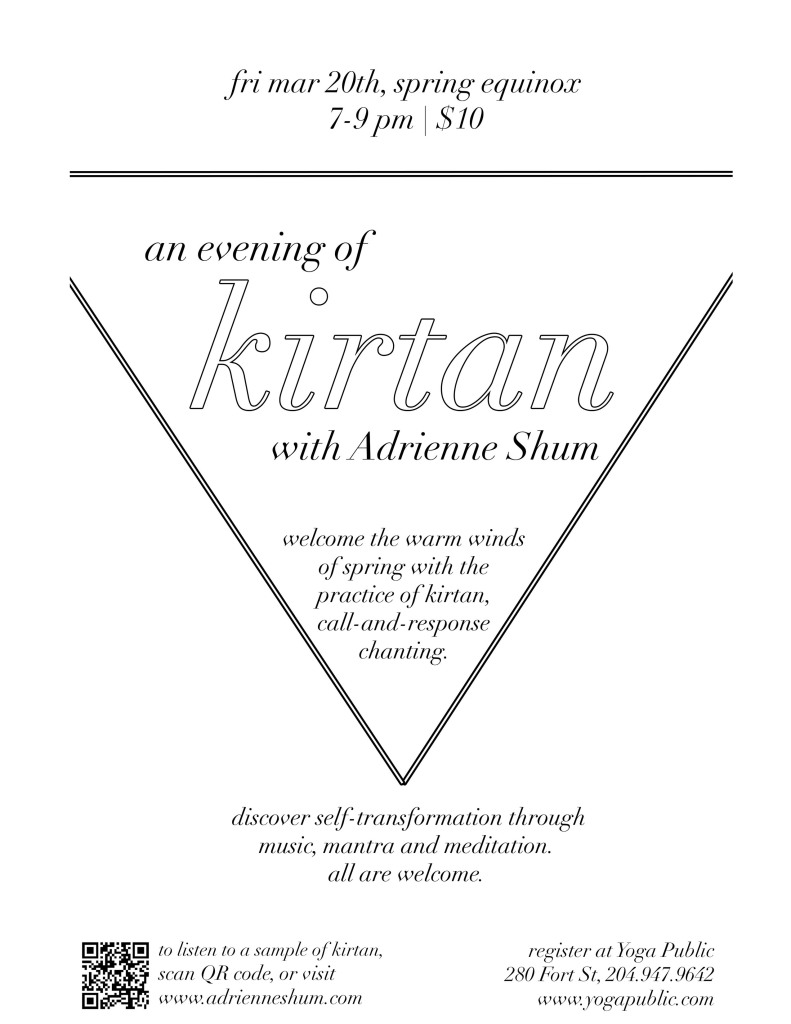 Kirtan at Yoga Public, Mar 20th