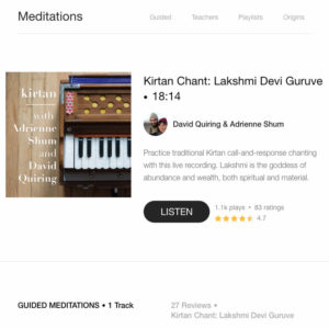 Kirtan on Insight Timer
