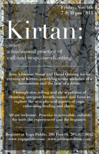 Kirtan at Yoga Public, Nov 4 2016