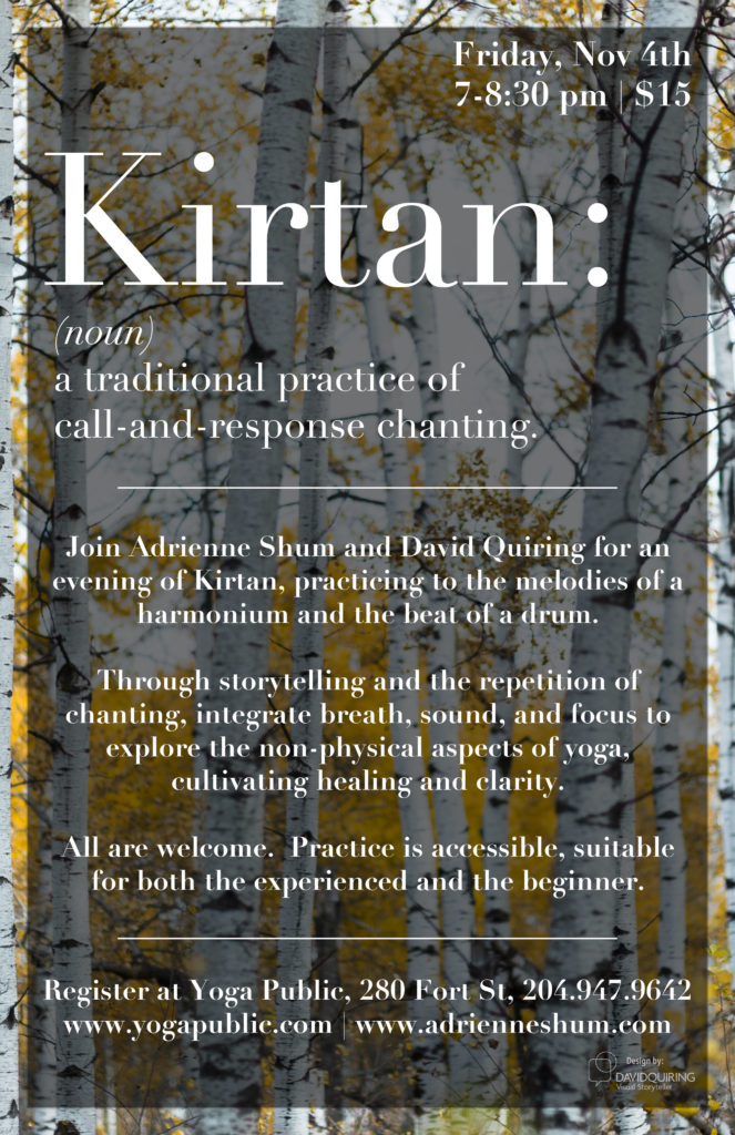 Kirtan at Yoga Public, Nov 4 2017