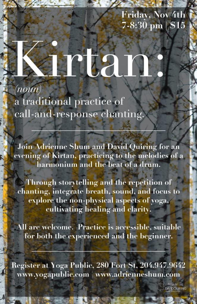 Kirtan at Yoga Public, Nov 4 2017