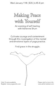 Making Peace with Yourself workshop, Jan 11, 2017