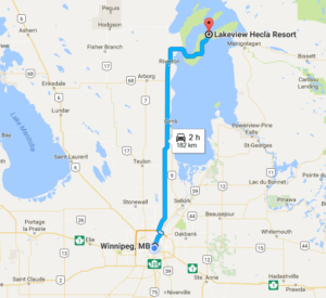 Google map WPG to Hecla