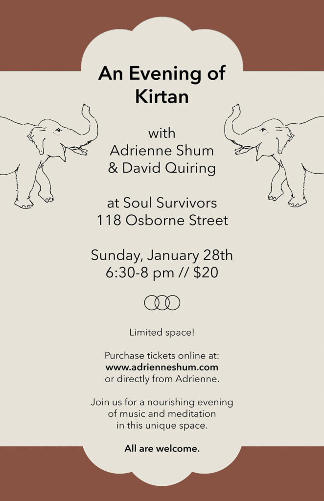Kirtan Soul Survivors Jan 2018