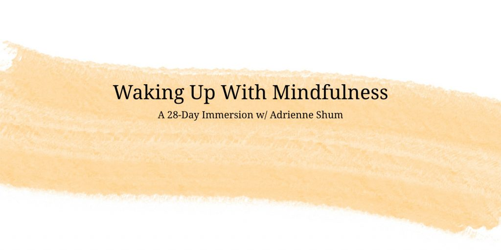 Waking Up With Mindfulness online course