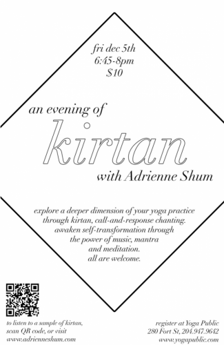 Kirtan @ Yoga Public, Dec 5, 2014
