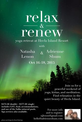 Yoga Retreat at Hecla, Oct 16-18, 2015