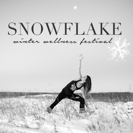 Snowflake winter wellness festival