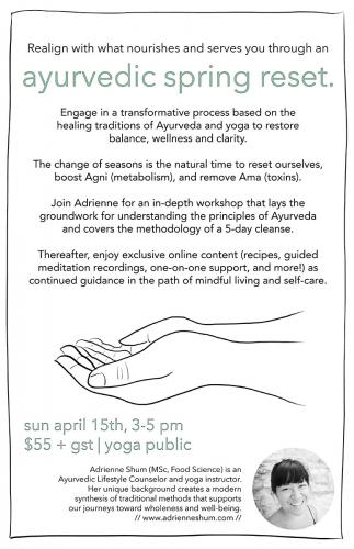 Ayurvedic Spring Reset workshop Apr 15 2018