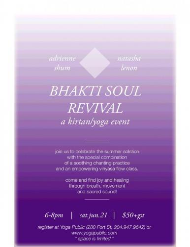 bhakti soul revival june21 poster 8x11